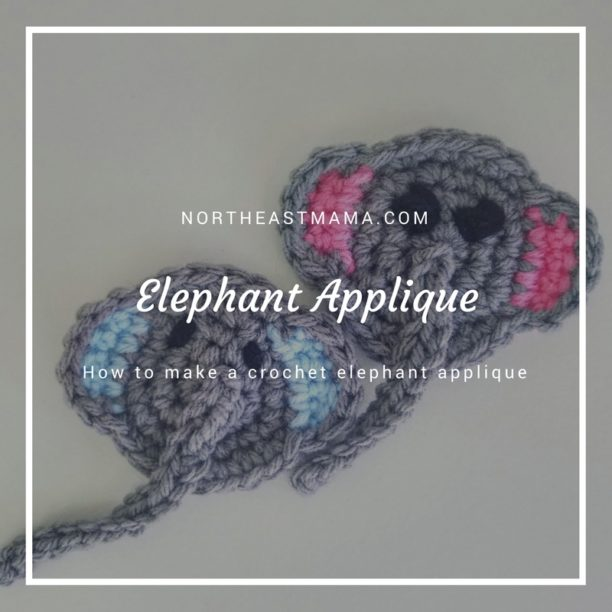 Crochet Pattern: Elephant Applique Pattern - %