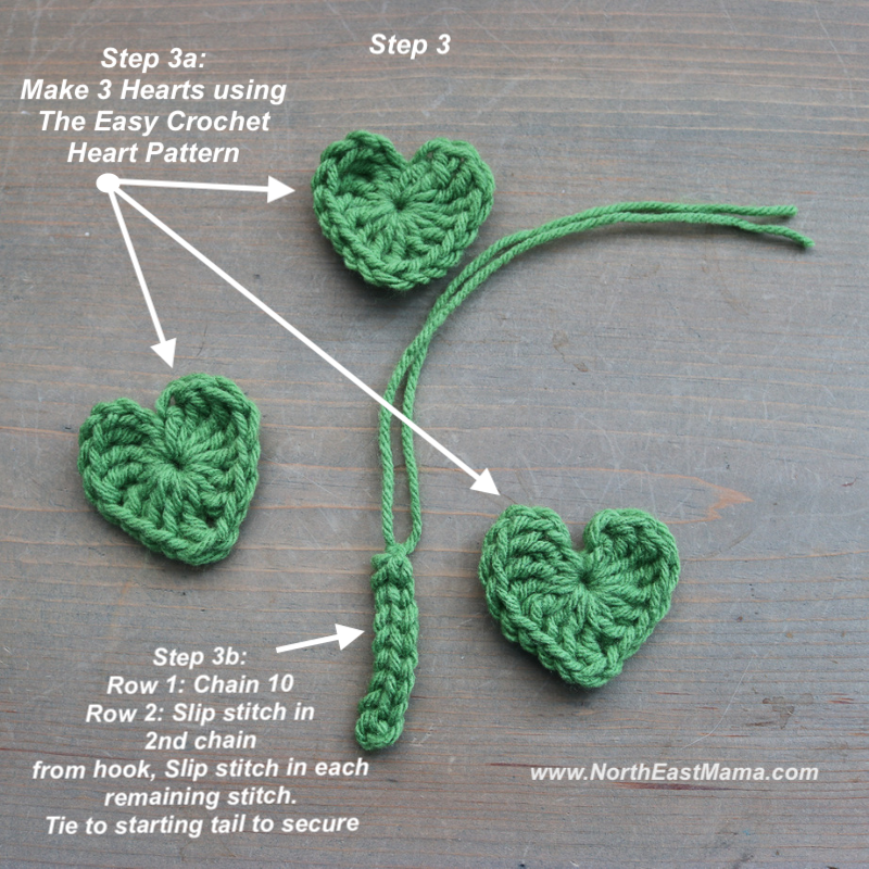 Photo of Step 3 crochet shamrock pattern